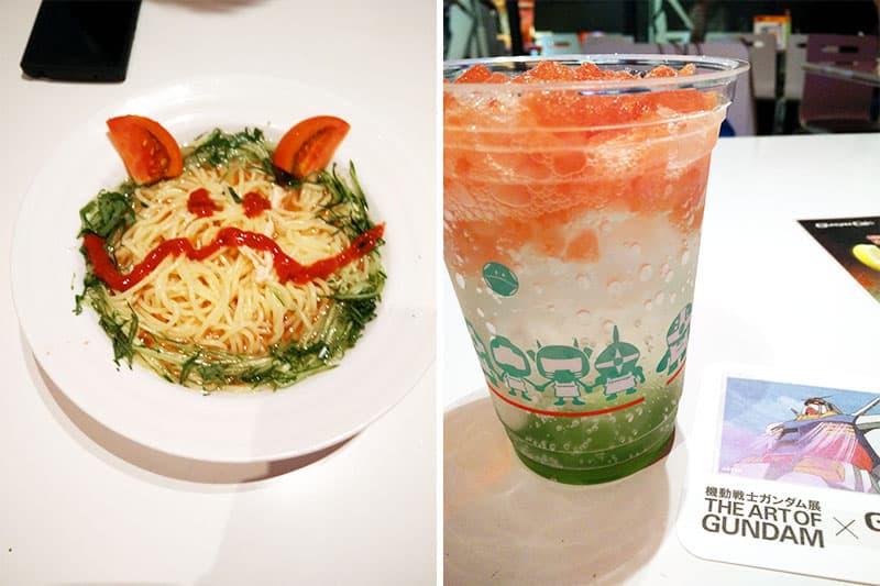 Gundam Cafe Tokyo Food Options