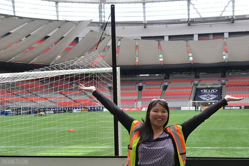 Adelina on BC Place Field | packmeto.com
