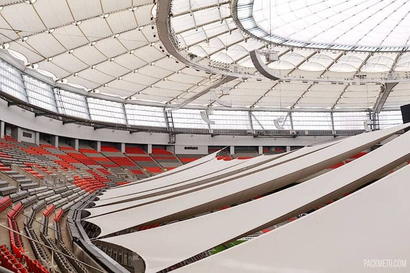 BC Place Upper Bowl | packmeto.com