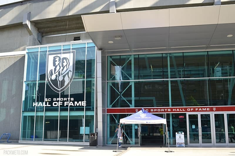 BC Sports Hall of Fame Entrance | packmeto.com
