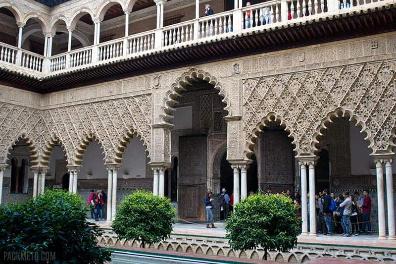 Courtyard of the Maidens Alcazar Seville Spain