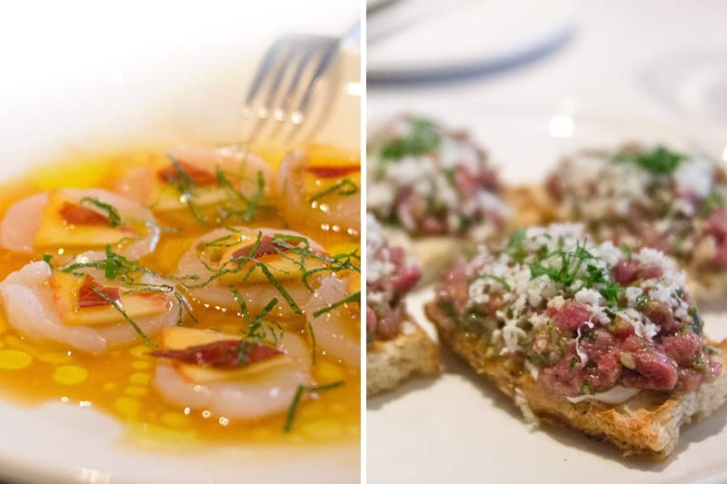Scallop ceviche & beef tartare at Segovia, Winnipeg | packmeto.com