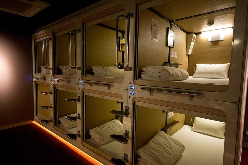 spending a night in a capsule hotel as a female in tokyo japan. Black Bedroom Furniture Sets. Home Design Ideas